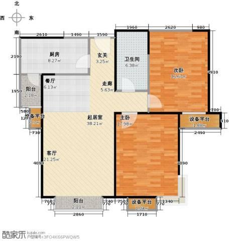 府上和平2室0厅1卫1厨101.00㎡户型图