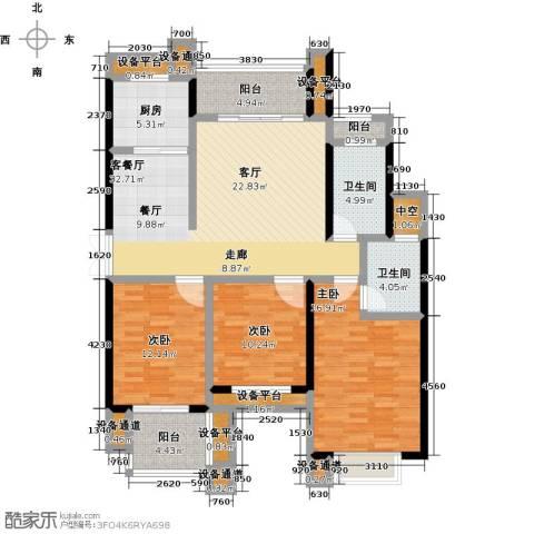 碧城云庭3室1厅2卫1厨154.00㎡户型图
