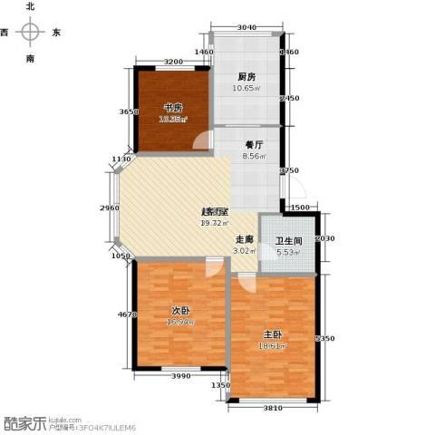 瑞合领秀恋恋山城3室0厅1卫1厨128.00㎡户型图