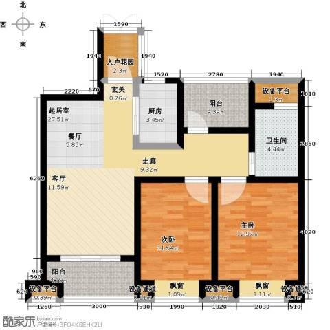 中铁诺德誉园2室0厅1卫1厨87.00㎡户型图
