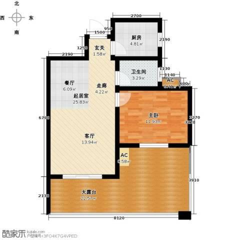 国际时代广场1室0厅1卫1厨97.00㎡户型图