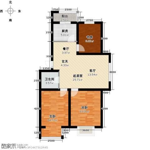 兴盛景悦蓝湾3室0厅1卫1厨104.00㎡户型图