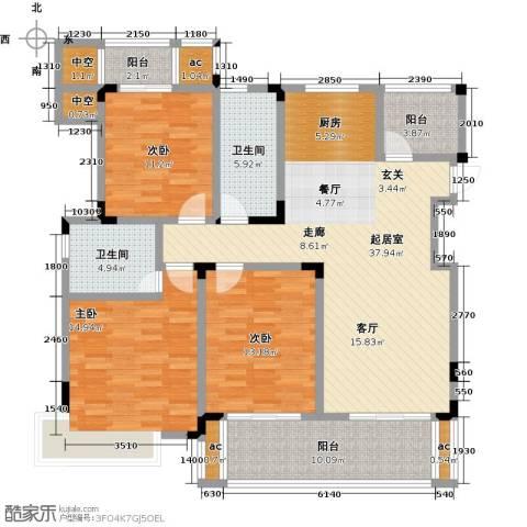 中节能生态岛3室0厅2卫0厨128.00㎡户型图