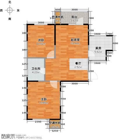 滨海欣嘉园2室0厅1卫1厨90.00㎡户型图
