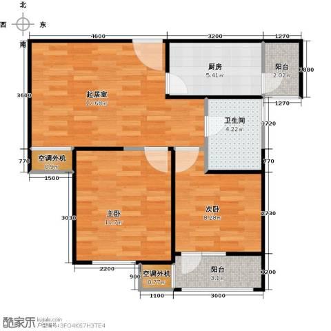 滨海欣嘉园2室0厅1卫1厨82.00㎡户型图