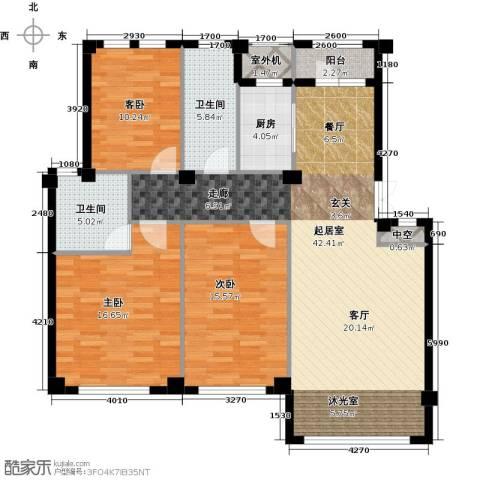 经纬壹号3室0厅2卫1厨116.38㎡户型图