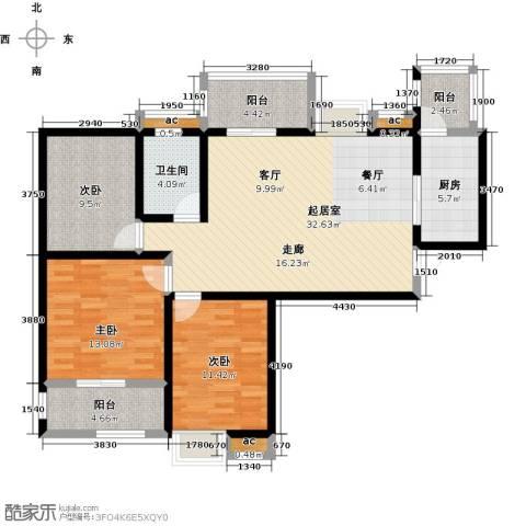 比克橄榄湾3室0厅1卫1厨100.00㎡户型图
