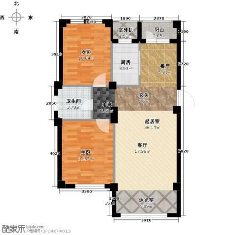 经纬壹号2室0厅1卫1厨78.89㎡户型图