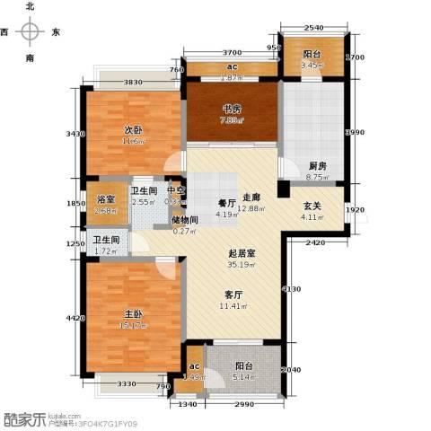 北极星花园3室0厅1卫1厨111.00㎡户型图