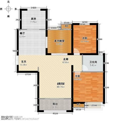 安阳万达广场2室0厅1卫1厨144.00㎡户型图