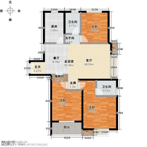 茂华国际汇3室0厅2卫1厨130.00㎡户型图