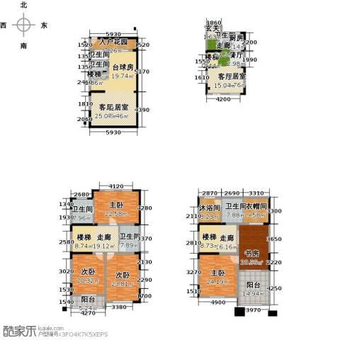 一品观园5室0厅6卫1厨337.00㎡户型图
