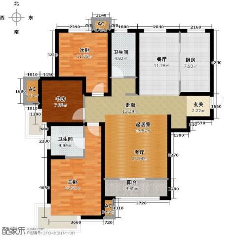 学仕府花园3室0厅2卫1厨134.00㎡户型图