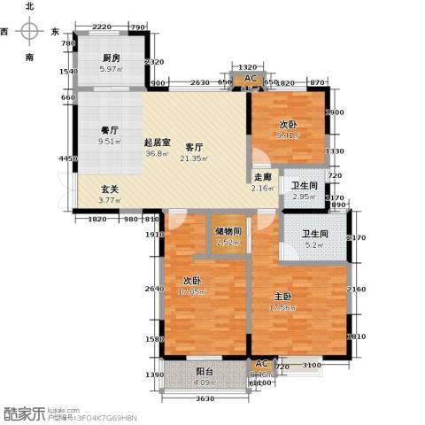 茂华国际汇3室0厅2卫1厨145.00㎡户型图