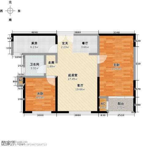 茂华国际汇2室0厅1卫1厨95.00㎡户型图
