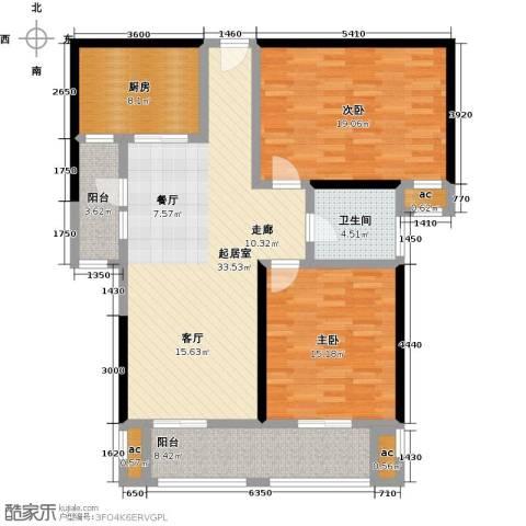 花好月圆2室0厅1卫1厨108.00㎡户型图