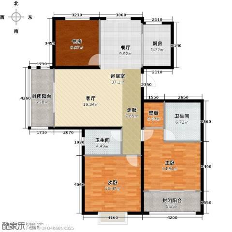 花样年华3室0厅2卫1厨150.00㎡户型图