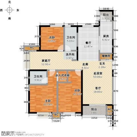 茂华国际汇3室0厅2卫1厨171.00㎡户型图