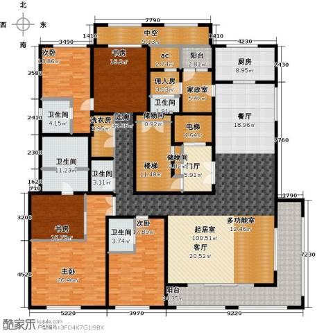 九龙仓国宾1号国宾山4室0厅5卫1厨310.00㎡户型图