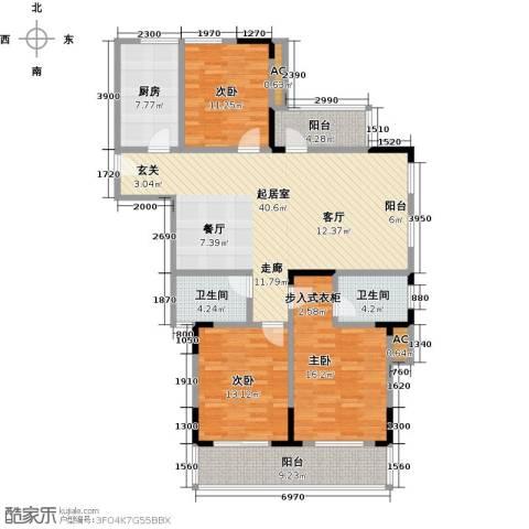 国际时代广场3室0厅2卫1厨158.00㎡户型图