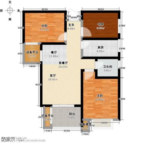 碧城云庭3室1厅1卫1厨125.00㎡户型图