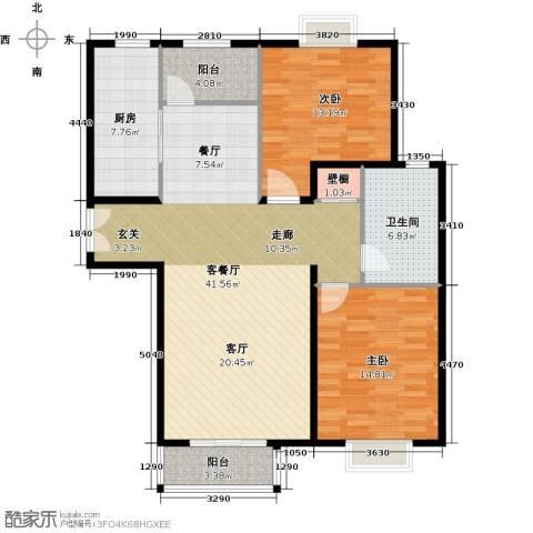 住总尚清湾2室1厅1卫1厨102.00㎡户型图