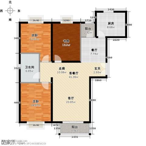 住总尚清湾3室1厅1卫1厨114.00㎡户型图