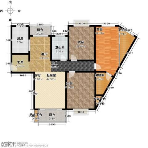 康悦亚洲花园3室0厅2卫1厨143.00㎡户型图