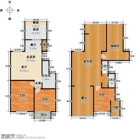 锦绣华城3室0厅2卫1厨183.37㎡户型图