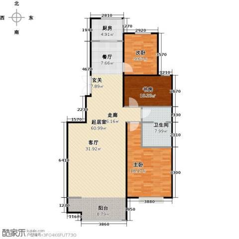 锦绣华城3室0厅1卫1厨118.00㎡户型图