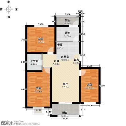 港东未来城3室0厅1卫1厨114.00㎡户型图