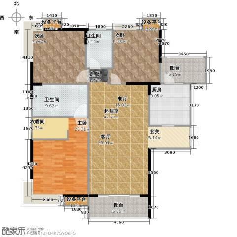 越秀星汇云锦3室0厅2卫1厨146.61㎡户型图