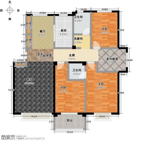 利丰花园3室0厅2卫1厨142.00㎡户型图
