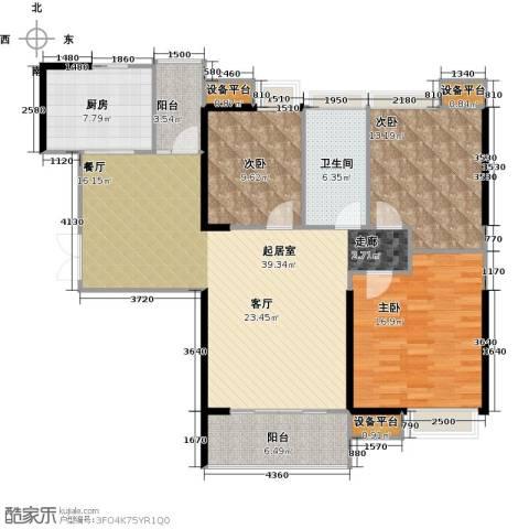 越秀星汇云锦3室0厅1卫1厨115.71㎡户型图