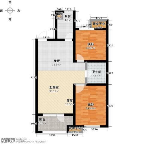 铂悦山2室0厅1卫1厨84.00㎡户型图