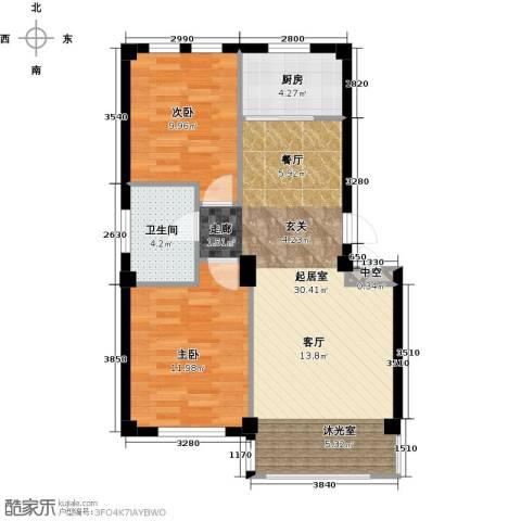 经纬壹号2室0厅1卫1厨68.27㎡户型图