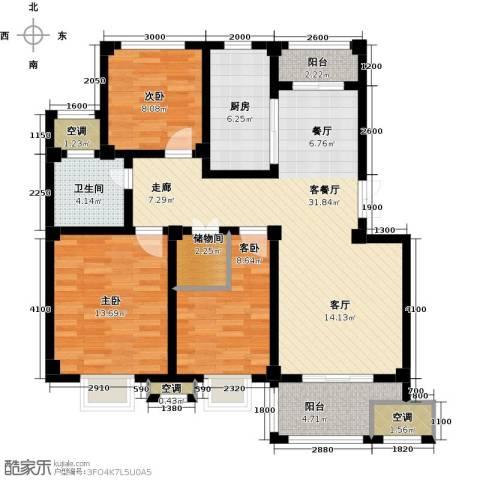邦泰中央御城3室1厅1卫1厨105.00㎡户型图