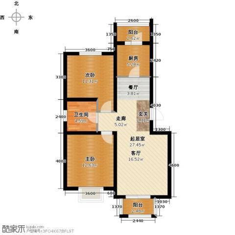 港东未来城2室0厅1卫1厨87.00㎡户型图