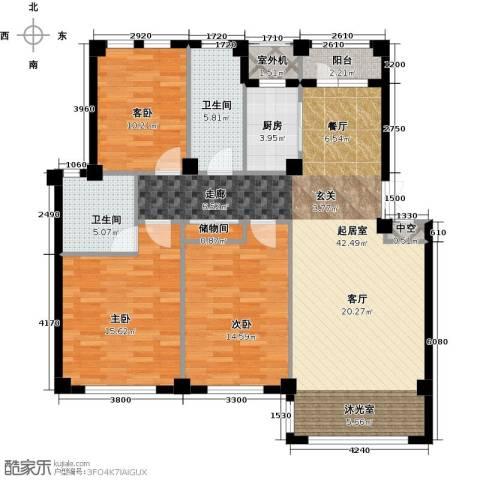 经纬壹号3室0厅2卫1厨115.45㎡户型图