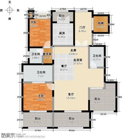金科王府2室0厅3卫1厨140.00㎡户型图