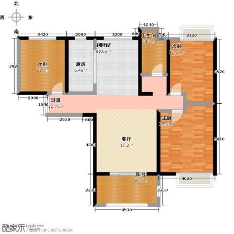 国贸天琴湾3室0厅1卫1厨121.00㎡户型图