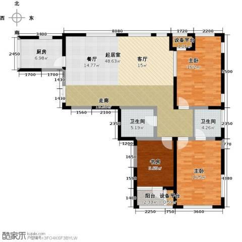 艺术家公寓3室0厅2卫1厨160.00㎡户型图