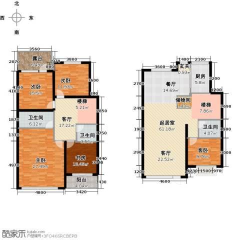 蓝山郡5室1厅3卫1厨250.00㎡户型图