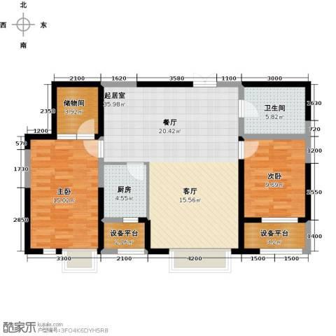 艺术家公寓2室0厅1卫1厨112.00㎡户型图