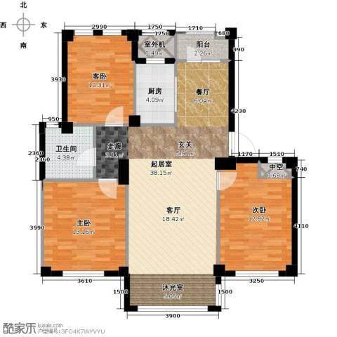 经纬壹号3室0厅1卫1厨98.05㎡户型图