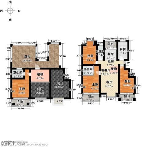 蓝山郡4室1厅3卫1厨133.00㎡户型图