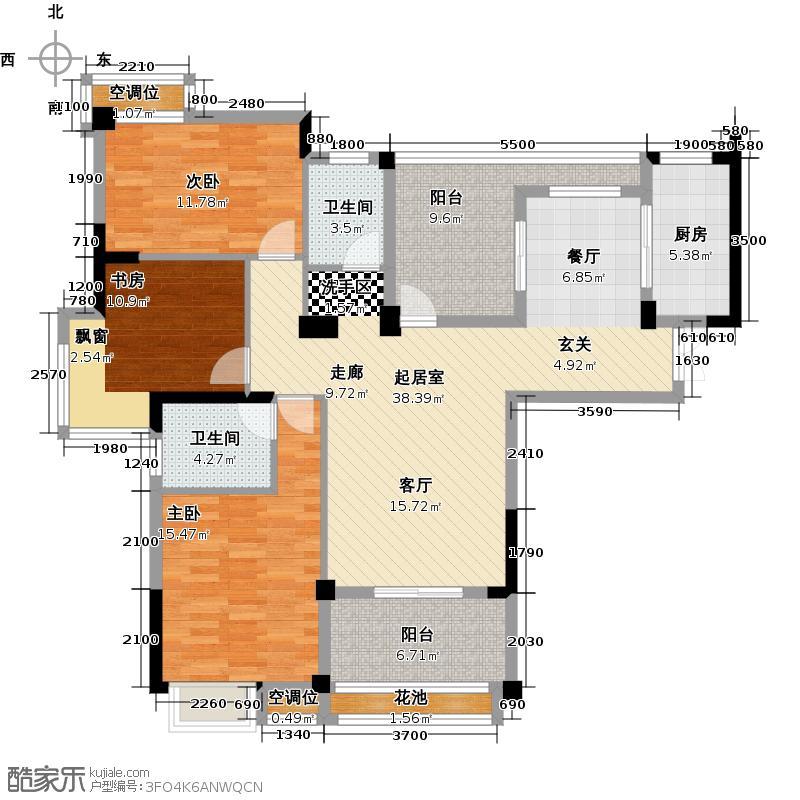 大华南湖公园世家134.52㎡售完户型