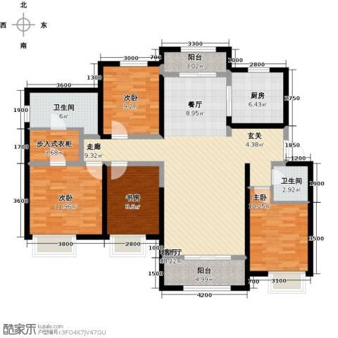保利花园4室1厅2卫1厨157.00㎡户型图