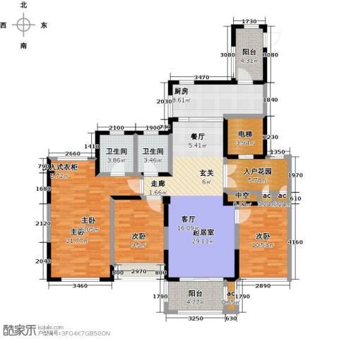 山湖湾3室0厅2卫1厨128.00㎡户型图