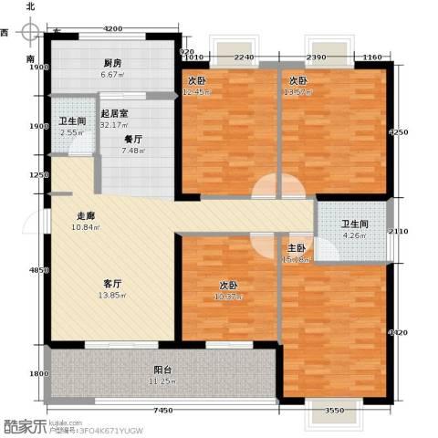 罗马西西里4室0厅2卫1厨151.00㎡户型图
